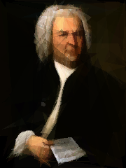 Portrait of Johann Sebastian Bach (1746) by Elias Gottlieb Haussman.