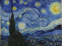 The Starry Night (1889) by Vincent Van Gogh.