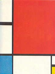 Composition with Red, Yellow and Blue (1930) by Piet Mondriaan.